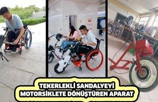 Tekerlekli Sandalyeyi Bir Motosiklete Dönüştürmek