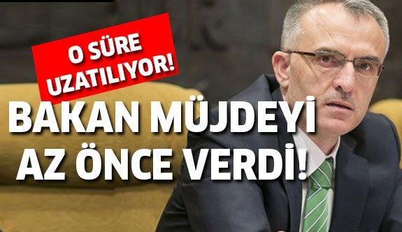 Maliye Bakanı açıkladı! Vergi yapılandırmasında ek süre