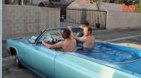 1969 Cadillac içinde süper hızlı Jakuzi