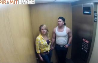 Asansörde Korkunç Hayalet Şakası Kötü Bitti!