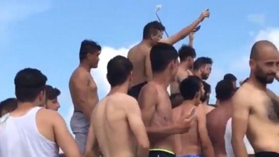 Florya plajındaki Suriyeli grup tartışma yarattı
