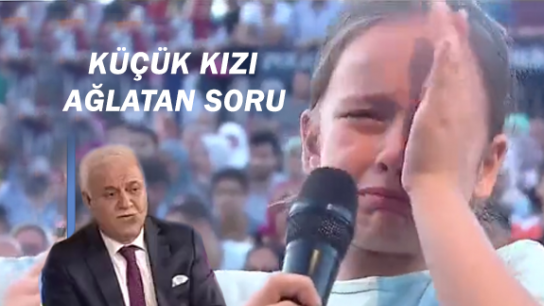 Küçük kızın Nihat Hatipoğlu'na sorusu herkesi duygulandırdı