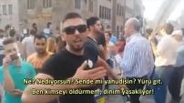 İsrail'li göstericileri tek başına dağıtan Türk!